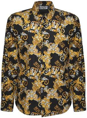 Versace Jeans Couture Baroque Print Cotton Poplin Shirt