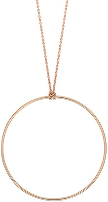 ginette_ny Circle on Chain Necklace - Rose Gold