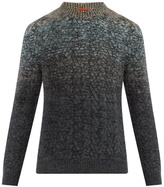 Missoni Ombré Crew-neck Wool-blend Sweater