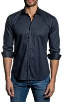 Jared Lang Trim Fit Vertical Stripe Sport Shirt