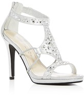 Caparros Emilie Jeweled Metallic High Heel Sandals