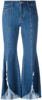 SteveJ & YoniP Steve J & Yoni P - distressed flared jeans - women - Cotton - S