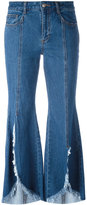 SteveJ & YoniP Steve J & Yoni P distressed flared jeans