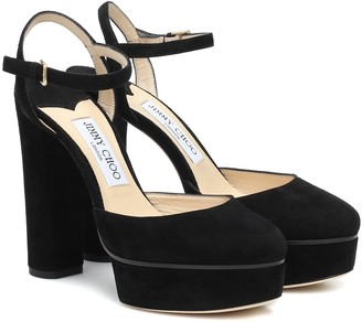 Jimmy Choo Maple 125 suede platform pumps