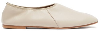 Emme Parsons High Throat Leather Ballet Flats - Light Grey