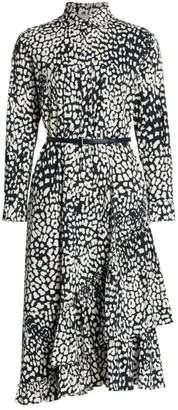 Max Mara Lipari Ruffle Midi Dress