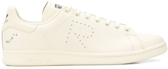 Adidas By Raf Simons white X raf simons stan smith leather sneakers