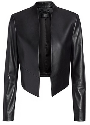 Alice + Olivia Harvey Open Leather Jacket