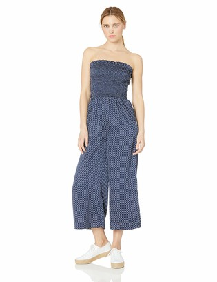 The Fifth Label Women's Fountain Strapless Stretch Cropped Wide Leg Dotted Jumpsuit