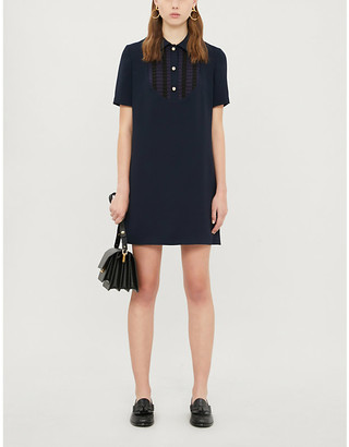 Claudie Pierlot Rayannah crepe mini shift dress