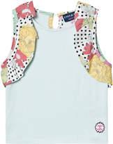 Andy & Evan Aqua Vest with Ruffle Sleeves