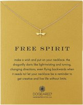 "Dogeared Reminder ""Free Spirit"" -Plated Sterling Silver Dragonfly Pendant Necklace, 18"""