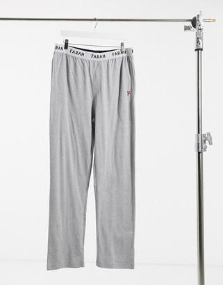 Farah Greshem lounge pants in grey marl
