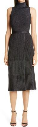 Diane von Furstenberg Lennon Metallic Wool Blend Sweater Dress