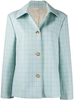 Nina Ricci Checked Wool Coat