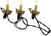 Kurt Adler 10-Light White Candle with Gold-Tone Dish Light Set
