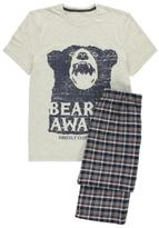 George Slogan Check Print Pyjama Set