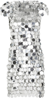 Paco Rabanne Pastilles Metallic Mini Dress