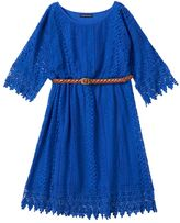 My Michelle Girls 7-16 Belted Cold-Shoulder Dress