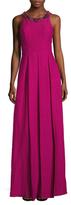 Marchesa Silk Embellished Gown