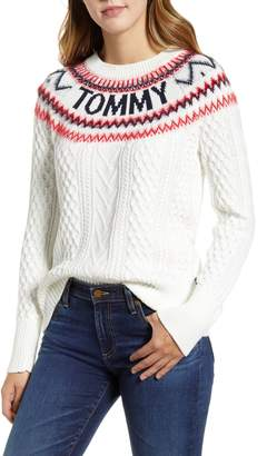 Tommy Hilfiger Logo Fair Isle Sweater
