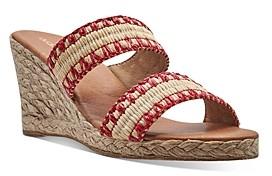Andre Assous Women's Nolita Raffia Espadrille Wedge Sandals