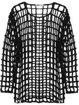 McQ by Alexander McQueen Open-knit Braided Cotton Mini Dress - Black