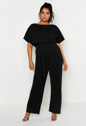 boohoo Plus Double Layer Jumpsuit