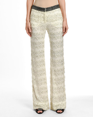 Valentino Embroidered Lace Pajama-Style Evening Pants