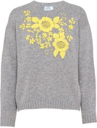 Prada Embroidered Cashmere Jumper