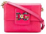 Dolce & Gabbana Dolce E Gabbana Women's Fuchsia Leather Shoulder Bag.