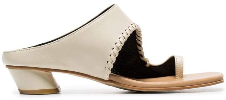 5e099d108a50d1 Cutout Leather Clogs Mules - ShopStyle