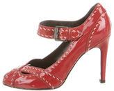 Bottega Veneta Patent Leather Peep-Toe Pumps