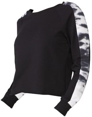 Monrow Tie-Dye Stripe Sweatshirt