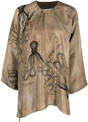 UMA WANG Octopus-Print Blouse