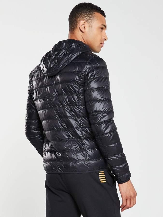 666cb8d4 Ea7 EA7 Core ID Hooded Padded Jacket - Black