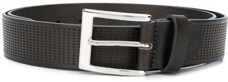 Canali Dotted Leather Belt