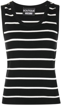 Boutique Moschino Stripe-Print Knitted Vest