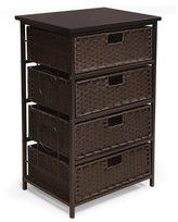 Badger Basket August Collection Tall Four Basket Storage Unit - Espresso