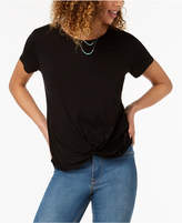 Style&Co. Style & Co Twist-Hem High-Low T-Shirt, Created for Macy's