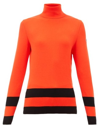 Fusalp Ubac Striped Roll-neck Top - Red
