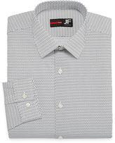 Jf J.Ferrar Easy-Care Stretch Long Sleeve Broadcloth Pattern Dress Shirt - Slim