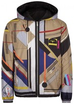 Versace Printed Reversible Shell Windcheater
