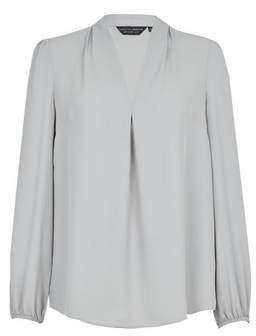 Dorothy Perkins Womens Silver Vienna Long Sleeve Top, Silver