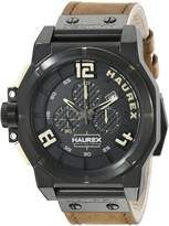 Haurex Italy Men's 6N510UNT Space Chrono Analog Display Quartz Brown Watch