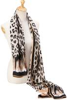 kolumb Premium Women Extreme Soft Scarf Wrap Shawl For Any Season ( Leopard Pattern, Brown )