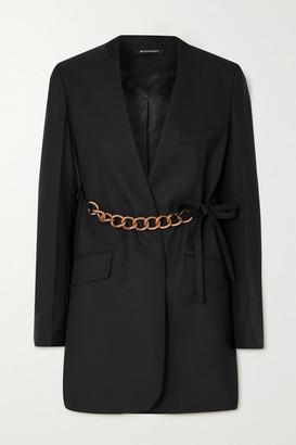 Givenchy Chain-embellished Wool Wrap Blazer - Black