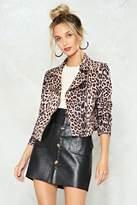 Nasty Gal Stay Paw-sitive Leopard Moto Jacket