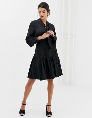 Closet London Closet Wrap Over Tie Waist Skirt