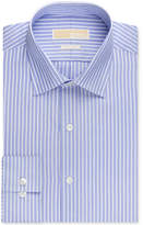 MICHAEL Michael Kors Men's Big and Tall Classic-Fit Non-Iron New Blue Stripe Dress Shirt